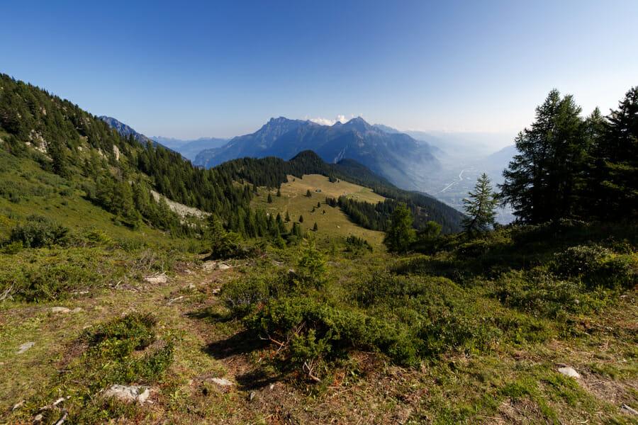 Vue sur la Vallée du Trient du Mont de l'Arpille