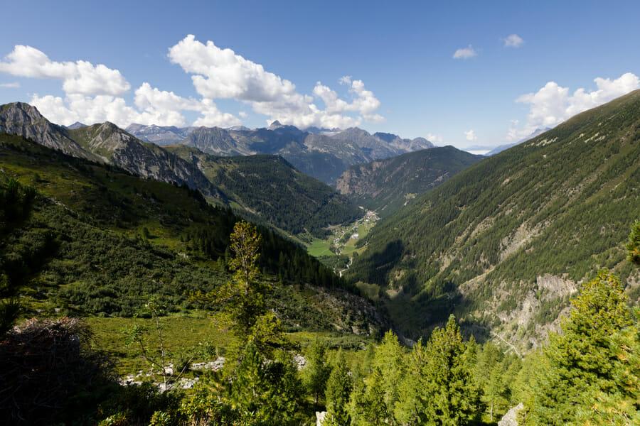 Vue sur la Vallée du Trient