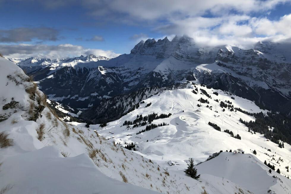 Blog Voyage Nature & Randonnée - Les Dents du Midi en hiver - Suisse