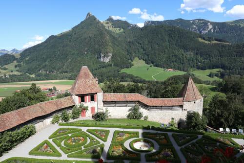 Jardins à la française du Château de Gruyères
