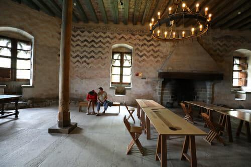 Réfectoire du Château de Chillon