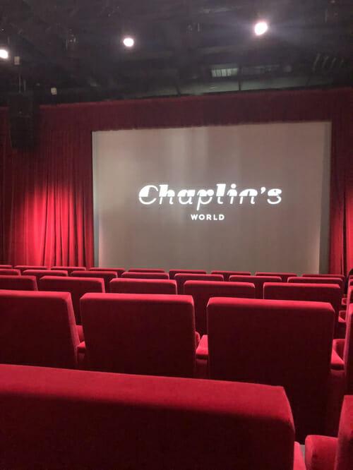 Salle du Cinéma du Musée Chaplin - 1h de Champéry