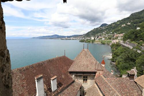 Vue sur le Lac Léman du Château de Chillon