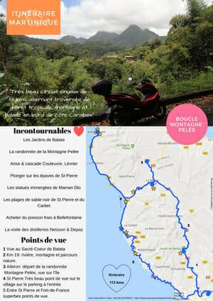 Itinéraire Martinique Nord - Boucle de la Montagne Pelée