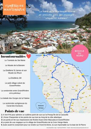 Itinéraire Martinique - Boucle du Nord