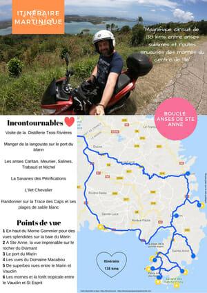 Itinéraire Martinique Sud - Anse de Ste Anne