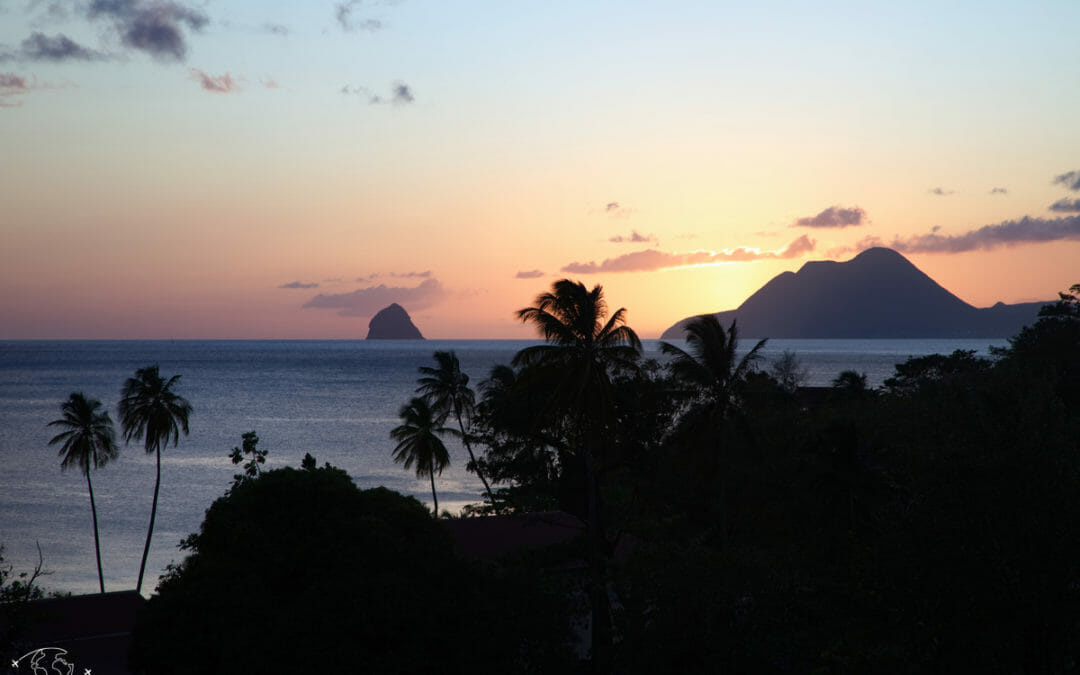 Visiter la Martinique _ Coucher de soleil sur le Diamant