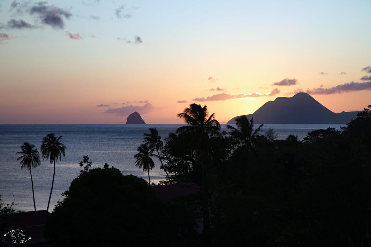 Blog Voyage Nature & Randonnée - Le Diamant au coucher du soleil - Martinique