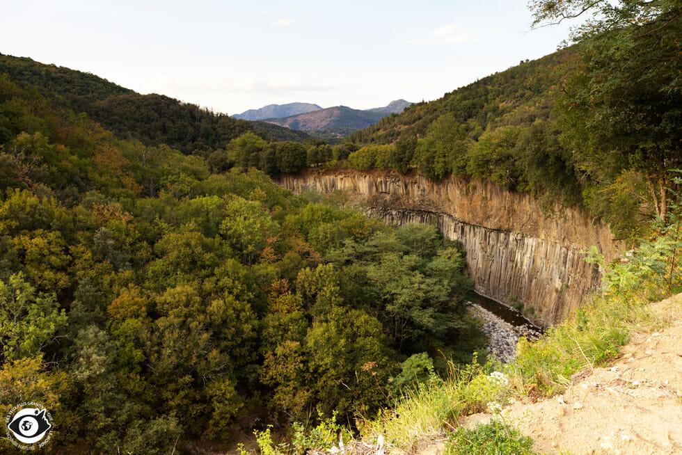 Coulées Basaltiques entre Jaujac et Neyrac - Ardèche