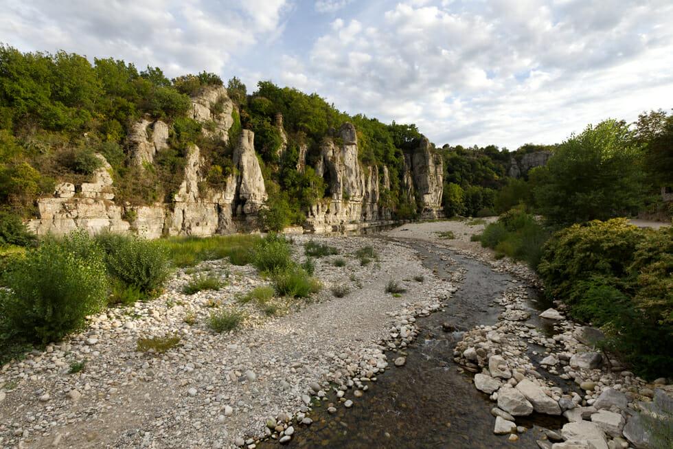Plage de Labeaume - Ardèche - France