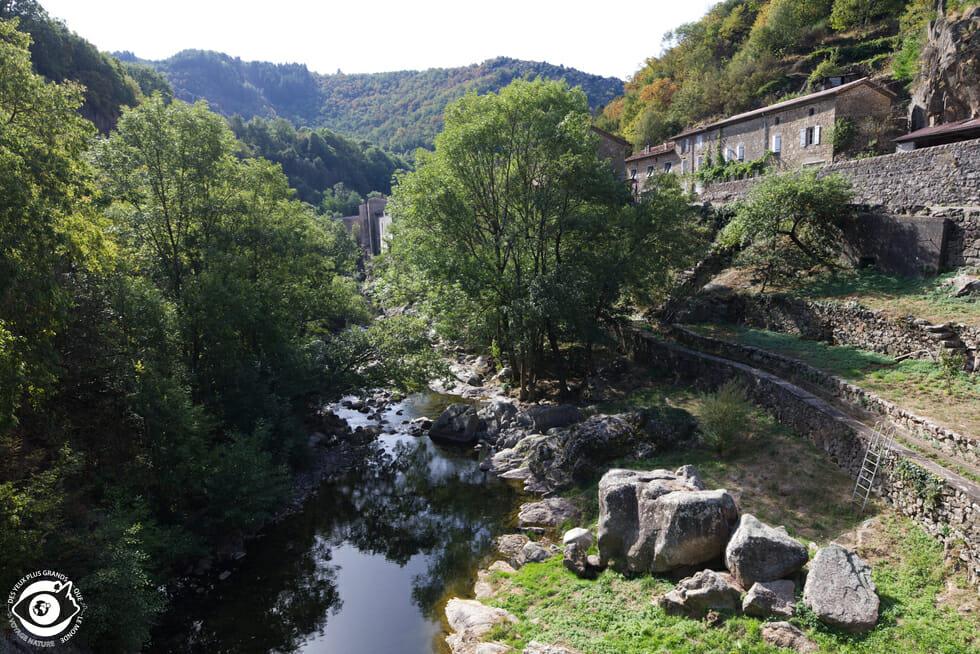 Point de vue entre Vals-les-Bains et Antraïgues sur Volane - Ardèche