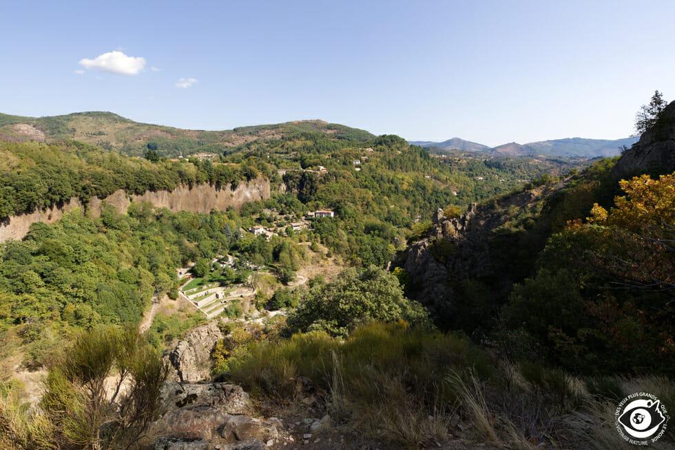 Point de vue entre Vinezac et Labeaume