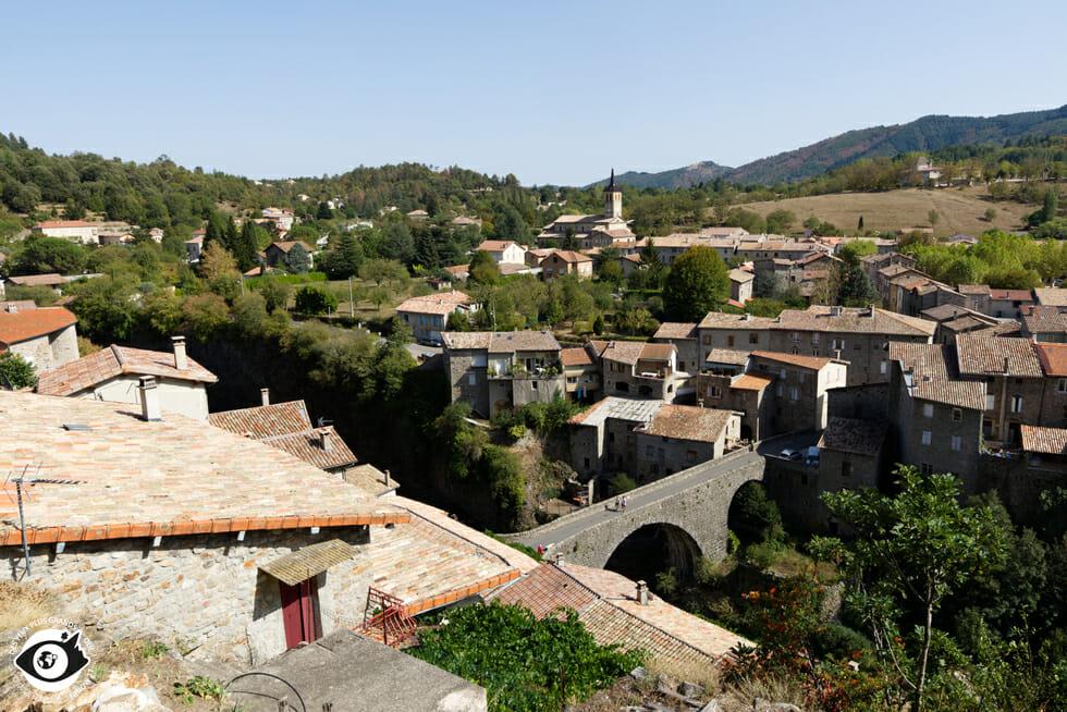 Vue du Belvédère de Jaujac - Ardèche