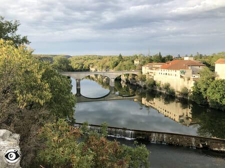 Vue sur le pont de Ruoms - Ardèche