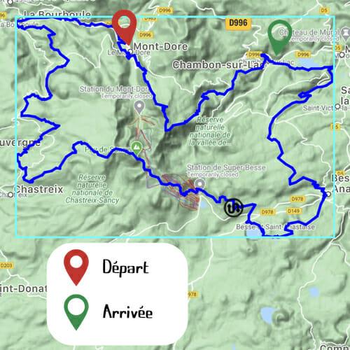 Etape 1 - Mont Doré _ Chambon sur Lac - Boucle du Sancy