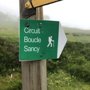 Panneau de la Boucle du Sancy - Randonnée Puy de Dôme