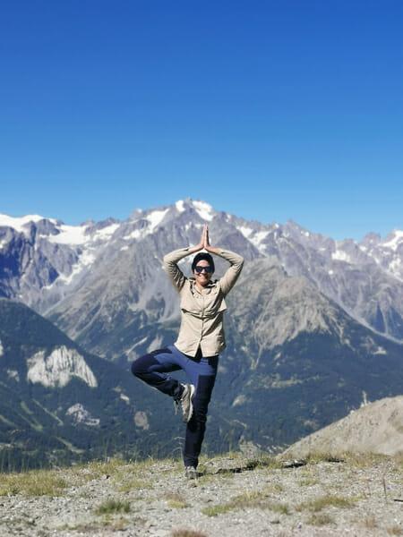 Laura dans les montagnes