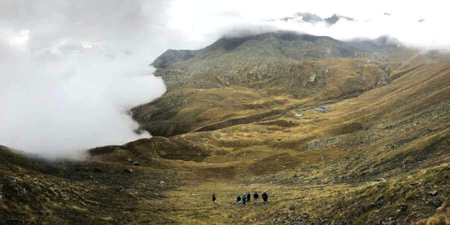 Refugio Vittorio Sella vu des hauteurs _ Parc Gran Paradiso