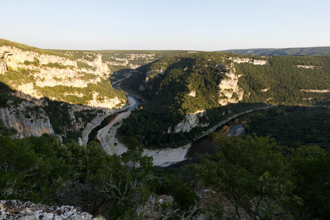 Vue des Gorges de l'Ardèche - Bivouac de Gaud