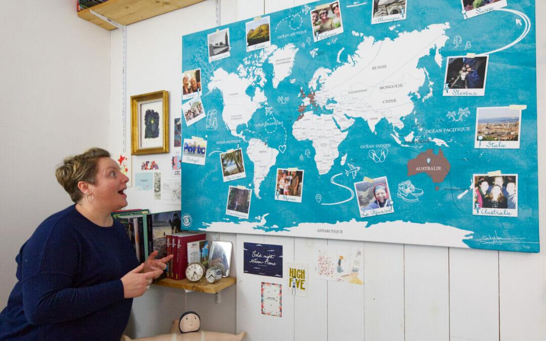 La carte du monde personnalisée avec Cartedumonde.eu