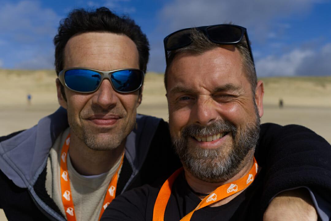 Etienne et moi sur la plage d'Arnaoutchot